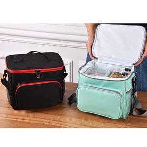 أكسفورد التخييم في الهواء الطلق نزهة حقيبة أزياء المحمولة معزول قماش نزهة سلة حقائب الغداء الحراري