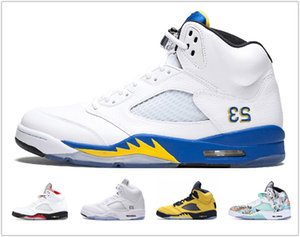 2020 5 5s Wings International Flight Mens Basketball Shoes Olympic Gold Medal Red Blue Suede OG Metallic Black men sports sneakers KC22