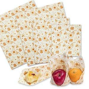 3 قطع قابلة لإعادة الاستخدام شمع العسل الغذاء التفاف لإعادة التدوير النحل الشمع حفظ الطعام والأغطية ساندويتش الفواكه تخزين المواد الغذائية التفاف