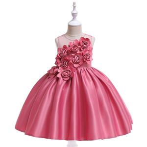 Niñas pequeñas barato rosado blanco rojo verde encaje fiesta moda ocasión largo boutique vestidos niños ropa