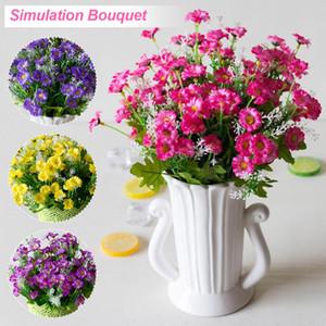 25heads / 1 pacote de seda Fake Flowers 28 Heads Spring Flowers Artificial Flor do Gerbera por DIY Wedding Party Decor