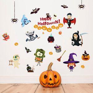 20190621 Novo Criativo Adesivo Removível Halloween Adesivo de Parede Sala de estar Janela Decoração de Fundo Adesivo Auto-adesivo