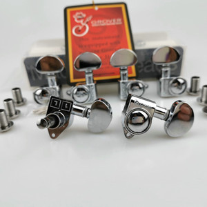 New 1Set 3R+3L Chrome Silver Grover Tuning Pegs Electric Guitar Machine Heads Guitar Tuners ( With packaging )