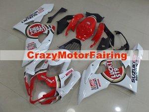 Nuovi kit carene moto ABS stampaggio ad iniezione misura per Suzuki GSXR1000 K5 2005 2006 GSXR1000 05 06 set carrozzeria carenatura personalizzata rosso bianco