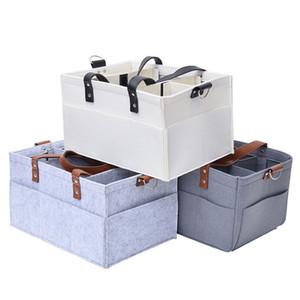 Couches pour bébés Caddy Portable Organizer Panier de rangement Essential Sac Nursery table à langer et bonne voiture pour le stockage de bouteilles Diapers
