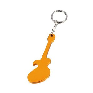 Personalized Wedding Party Favor Guitar Shaped Bottle Opener Keychain Keyring Custom Bride & Groom Names Wedding Gift for Guest