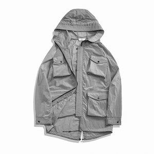 CP topstoney PIRATA EMPRESA 2020 konng gonng primavera y el otoño nueva alta calidad Multi bolsillo de la chaqueta larga y delgada