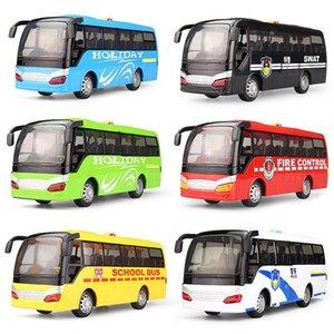Plastik Abs Model Oyuncaklar Otobüs Diecast Oyuncak Araçlar Çekme Geri Yanıp sönen Müzikal Yüksek Simülasyon Okul Servisi Yılbaşı Çocuk Hediye Q0239