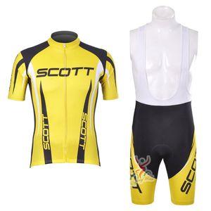 SCOTT Pro bisiklet forması yaz Kısa Kollu döngüsü giyim MTB Ropa Ciclismo Bisiklet maillot Önlüğü şort Set bicicleta Y53128