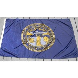 Nebraska Flag 3x5ft 150x90cm Impressão Poliéster Bandeira Nacional Clube Sports Outdoor Indoor Com 2 guarnições de latão, frete grátis