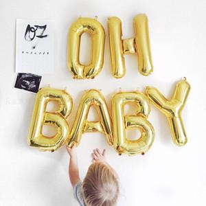 لوازم استحمام الطفل عيد ميلاد الديكور لامع البالونات مجموعة OH BABY الطفل الديكور حزب 6 قطع / الكثير الديكور حزب البالونات اللوازم
