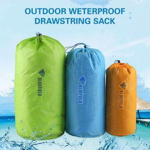 3pcs 15D Nylon Bag Ultralight Outdoor Drawstring Bag Climbing Hiking Reusable Tent Peg Pouch Home Camping Travel Storage Pack