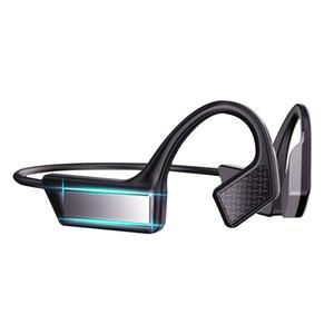 K08 بلوتوث 5.0 لاسلكية سماعات العظام التوصيل سماعة الرياضة في الهواء الطلق سماعة مع ميكروفون يدوي سماعات