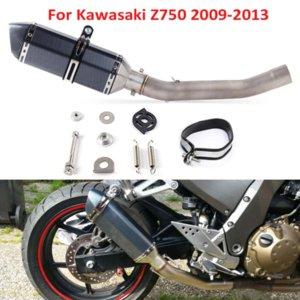 Para el período 2007-2013 Z750 resbalón de escape Sistema de escape de la motocicleta Z750 silenciador de escape Tubo de conexión intermedia conecte el tubo