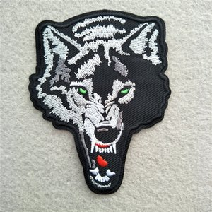 Wild Animal Fierce Wolf Shark Skull Embroidery Patches For Clothing Sewing Iron On Patch DIY Badge Jeans Garment Jacket Bag Decoration