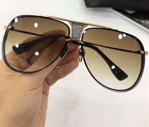 빈티지 클래식 파일럿 선글라스 2082 매트 블랙 / 골드 프레임 및 상자 브라운 그라데이션 렌즈 남성 선글라스 태양 안경 안경 새로운