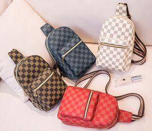Moda ragazzi nuovi plaid zaini dei bambini casuali insacca le donne sacchetto del telefono petto ragazze singola Bambini borsa a tracolla borse vita A2049