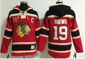 Top Quality Chicageo Blackhawks Hockey maglie Vintage 19 Jonathan Toews 2 Duncan Keith cappuccio Pullover Felpe Giacche invernali cucite