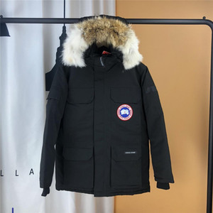 New Women Trillium Femme Outdoors Fur Down Jacket Hiver Thick Warm Windproof Goose Down Coat Thicken Fourrure Hooded Jacket Designer Coats