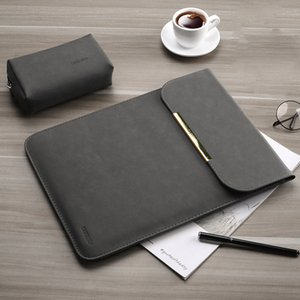Men PU Leather Matte Women Sleeve Laptop Bag 15.6 14 For Macbook Air 13 Case Pro 11 12 15 For Xiaomi Mi Notebook 12.5 13.3 Cover