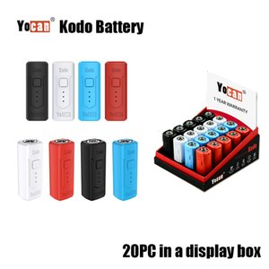 Authentische Yocan Kodo Kit vorheizen VV Variable Spannung 400mAh Vape Batterie Vape Box Mod Fit Alle 510 Themen-Cartridge Fully In 30 Min Lade