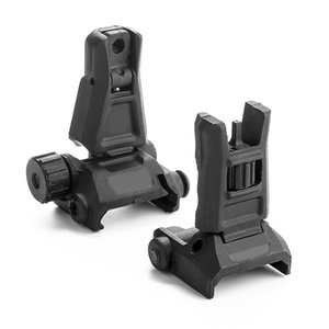 Magorui Nylon Polymer Tactical Gen3 Pro Front & Rear Backup For AR15 Front Rear Sight flip up Rapid Transition Backup Sight for