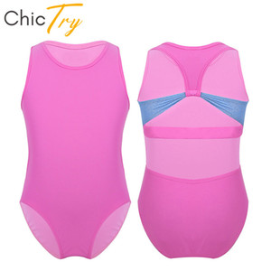 ChicTry Kids 십대 민소매 발레 Leotard Girls Racer-Back 블랙 핑크 체조 Leotard Bodysuit 아동용 댄스 복
