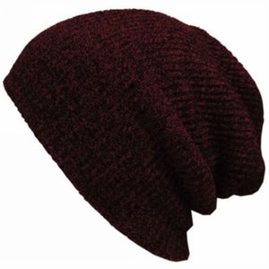 HEALMEYOU Fashion Unisex Hip Hop Knit Baggy Beanie Winter Warm Hat fashion new Ski Slouchy Chic Knitted casual Caps Skull