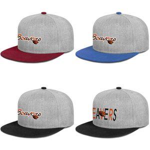 Oregon Beavers football logo Mens and womens Flat edge Baseball Adjustable Cap Golf Hip Hop Classic Hats Coconut tree pink breast cancer