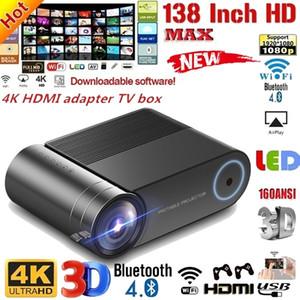 2020 جديد الترقية YG550 العرض المنزل مع شاشة 3D 1080P المحمولة الصمام الصغير الدعم HD العرض 4.0 بوصة شاشة LCD مكتب أعلى العرض
