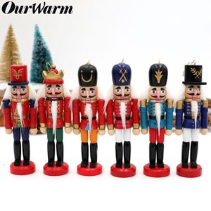 6 adet Ahşap Fındıkkıran Noel Şanslı Noel Fındıkkıran Süslemeleri Süsler Çizim Ceviz Askerler Bant Bebekler