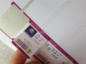 étiquettes de bijoux personnalisés et des étiquettes d'argent imprimable / blanc / couleur vendus prix samll / raccrocher / tags de chaîne pour anneaux / bracelet de jade différents modèles