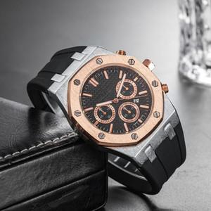 Оптовая Дешевая Цена Мужские Роскошные Спортивные Наручные Часы 45 мм Кварцевый Механизм Мужской Часы Часов с Резинкой на шельфе