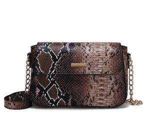 Designer Lady Serpentine Sacs à main de luxe Sac bandoulière femme animaux Mode Imprimer Crossbody chaîne
