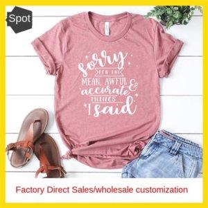 Frauen-Kleid Sorry für den mittleren Brief Kurzarm-T-Shirt Frauen-Kleid Sorry für den mittleren Brief Kurzarm-T-Shirt