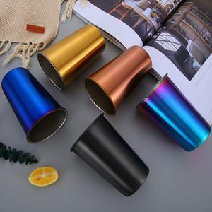Nordic Simplicity Style Picnic Cup Boccale da birra all'aperto in acciaio inox 304 con coperchio Bicchiere da caffè di alta qualità 12qh Ww