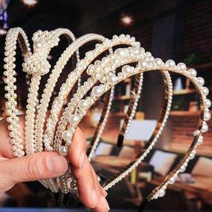 Nouveau Grand luxe Perle Bandeau Femmes Bow tournesol Hoops filles Accessoires cheveux Bijoux Fashion accesorios para el Cabello mujer