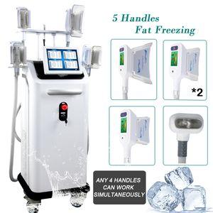 Лучшая цена жира заморозить Машины CRYOLIPOLYSIS сокращения жира криотерапия 4 Cryo РУЧКА cryolipolisis использование машины салона