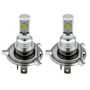 2PCS H4 LED Bulbs 3570 CSP-Chips LED Fog Light Bulb Car Driving DRL Lamp White 6000K Car Styling