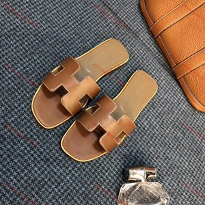 xshfbcl Designer sandals women designer slides Brand Fashion striped sandals causal summer huaraches slippers flip flops slipper real leathe