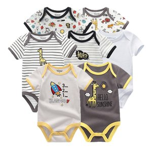 2019 bébé garçon vêtements nouveau-né licorne bébé fille vêtements bodys vêtements de combinaison, vêtements ensembles Ropa être 0-12m manches courtes 7pcs / lot