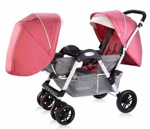 Twin Baby Strollers for Newborn Double Stroller Baby Carriage Can Sit Reclining Face to Face Child Trolley Double Pram