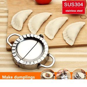 50 piezas nuevo respetuoso del medio ambiente pastelería herramientas 304 Acero inoxidable Dumpling Maker Wraper cortador de masa pastel Ravioli Dumpling molde accesorios de cocina