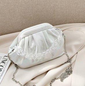 New Style Laser Cloud Bag Women Small Hobos Chain Bag Beach Shoulder Bags Girls New Fashion Cross Body
