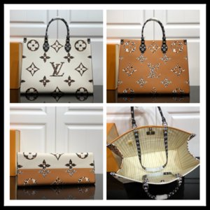 LOU1S VU1TTON OnTheGo Monogram M44921 messenger sac à main en cuir véritable torsion commercial shopping sac à bandoulière sac poches Totes Sac cosmétique