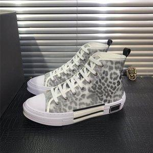 Eğik Erkek Marka B23 Tasarımcı Ayakkabı mens 19SS yeni Çiçekler Teknik Tuval B23 B24 Yüksek Top Sneakers ve Bayan Moda Sneakers