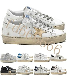 New Italy Multicolor Heel Golden Superstar Gooses Sneakers Men Women Classic White Do-old Dirty Shoes Hi Star Shoes Size US 5-11