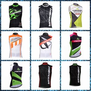 Men summer MERIDA Cycling Sleeveless jersey Vest   Leisure Breathable Slim fit   Outdoor Sports Bicycle equipment shirt P62215