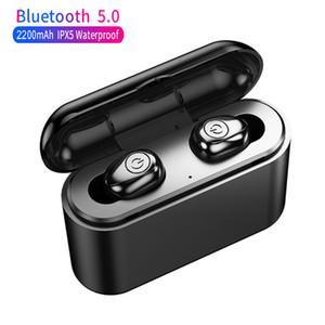 X8 TWS Auricolare Bluetooth stereo Binaural 5.0 rumore cuffie cancellazione Mini Wireless 2200mAh auricolari impermeabili per tutti i telefoni