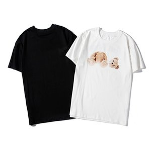 T 셔츠 크루 크루 넥 코튼 셔츠 화이트 슬림 트렌드 T 셔츠 palm angels t shirt women 여름 남성 힙합 캐주얼 짧은 소매
